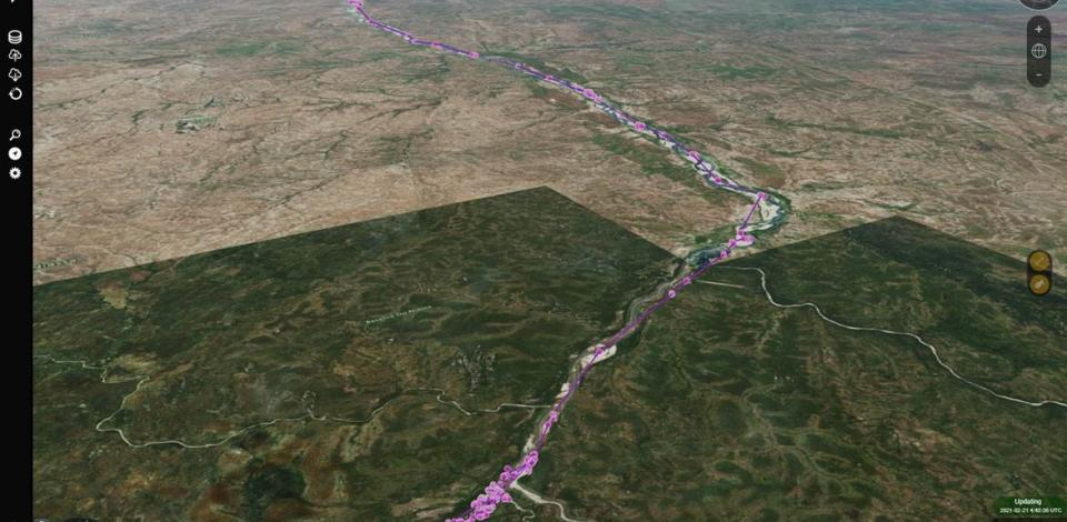 The crocodiles movements are tracked