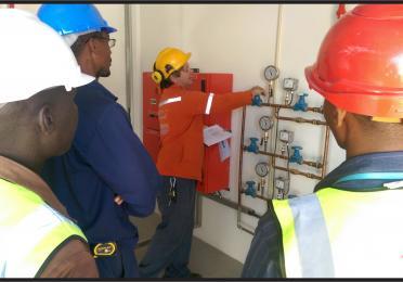 Treinamento sobre o uso do sistema de combate a incendios - Sprinkler