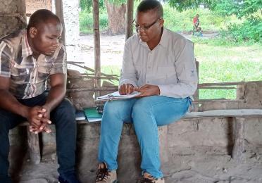 CLO Anna with Community Facilitator - Mondlane - grievance awareness