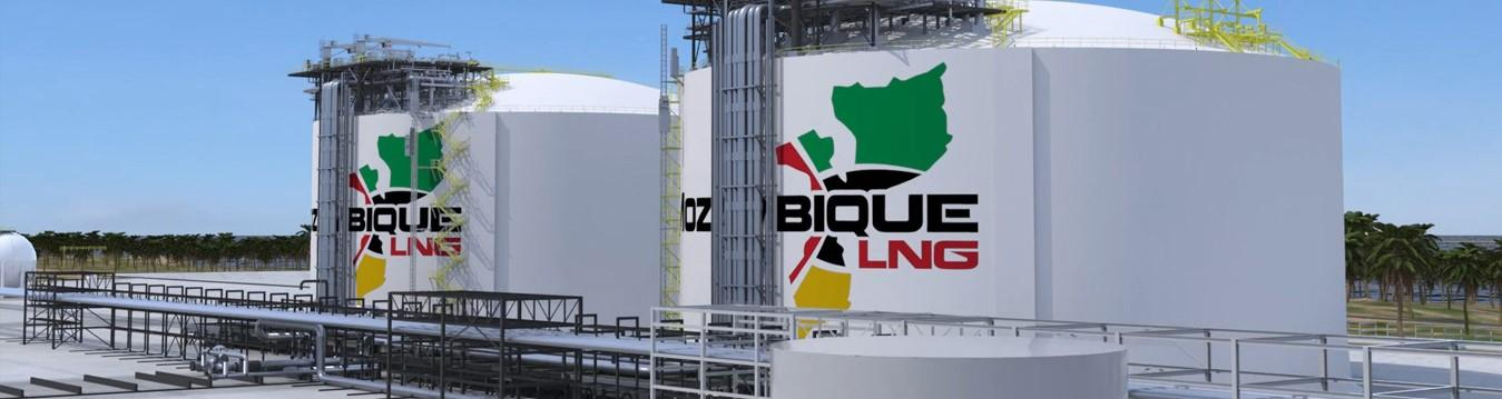Mozambique LNG tanks