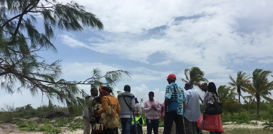 Visiting Salama beach to look at marine operations from afar
